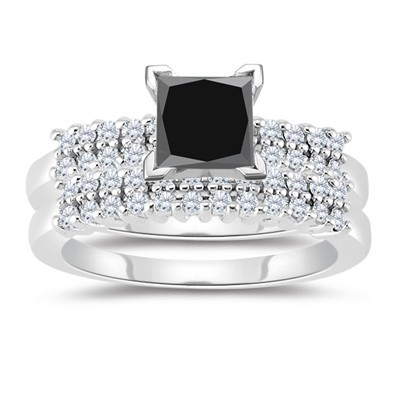Artistry Black Diamond 4.08 Ct Diamond Solitaire Ring Anniversary Solid Gold