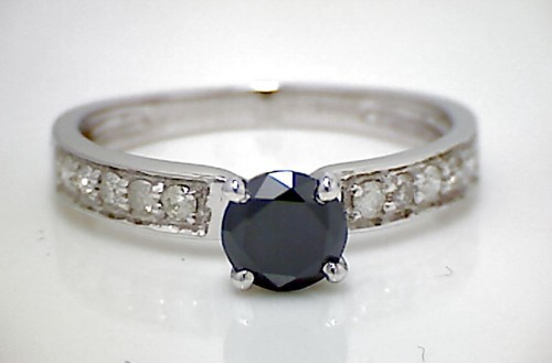 Artistry Black Diamond 1.40 Carat Diamond Solitaire Ring Solid Gold