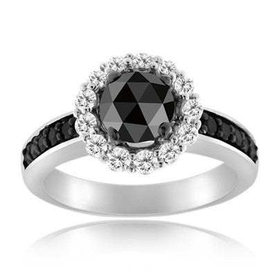 Artistry Black Diamond 1.83 Carat Diamond Solitaire Ring Solid Gold