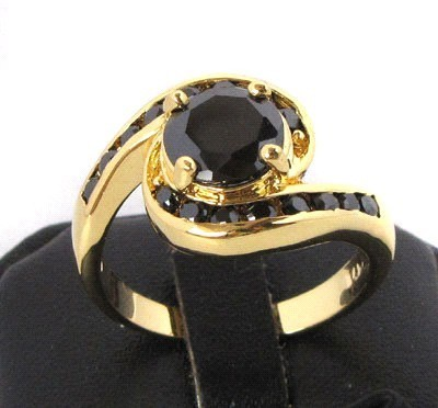 Black Diamond 3.20 Carat Solitaire Black Diamond Ring Solid Gold