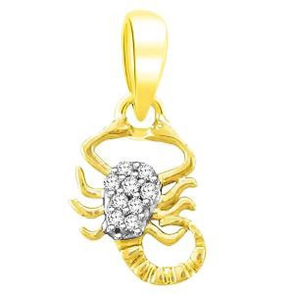 Zodiac Sign Necklace Scorpio 0.55 Ct Diamond Solid Gold Astrology jewelry Natural Certified