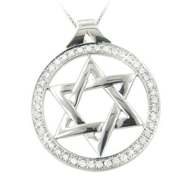 Zodiac Jewelry Star! 0.75 Ct Diamond Solid Gold Star Horoscope Necklace Natural Certified