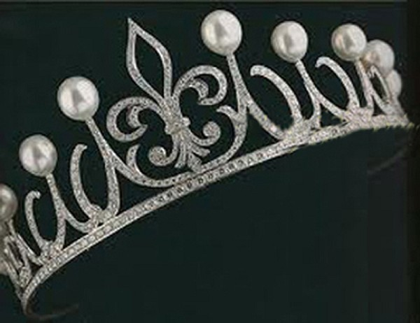 Bridal Headpieces 66.00 Ct Natural Certified Diamond Pearl Sterling Silver Art Deco