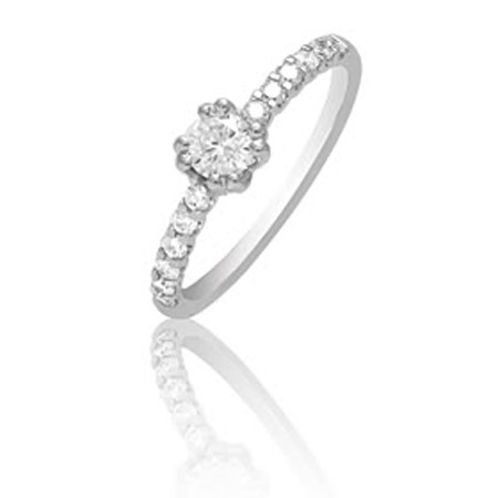 1 Carat Solitaire Diamond Ring White Gold Wedding Engagement Natural Certified