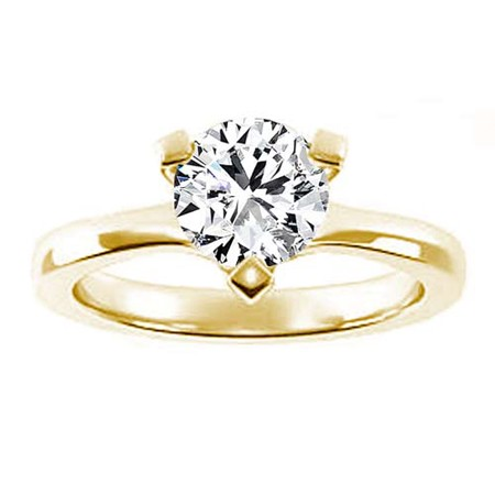 Diamond Solitaire Ring 1.02Ct Solid Yellow Gold Anniversary Gift Natural Certified