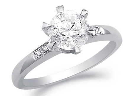 1.5 Carat Solitaire Diamond Ring White Gold Anniversary Wedding Natural Certified