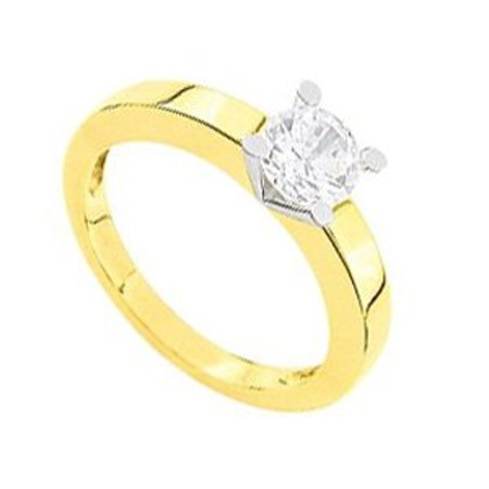 Diamond Solitaire Ring 0.50Ct Solid Yellow Gold Wedding Anniversary Gift Natural Certified