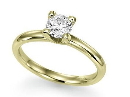 Diamond Solitaire Ring 0.75Ct Yellow Gold Wedding Anniversary Natural Certified