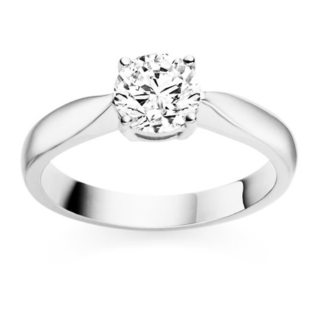 1 Carat Solitaire Diamond Ring Solid White Gold Engagement Natural Certified