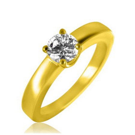 Diamond Solitaire Ring 0.88Ct Solid Yellow Gold Perfect Gift Natural Certified