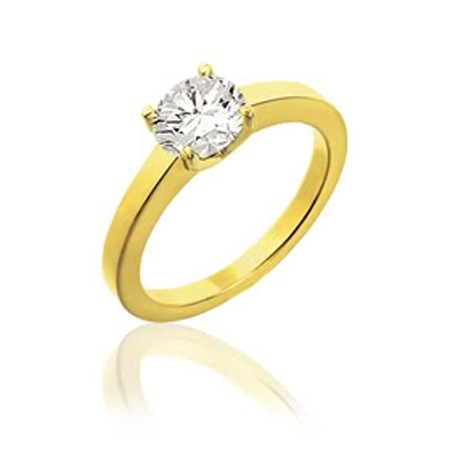 Solitaire Diamond Ring 0.50Ct Solid Yellow Gold Anniversary Gift Natural Certified