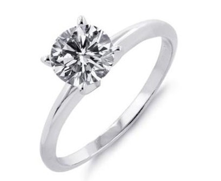 Diamond Solitaire Ring 1.02Ct Solid White Gold Perfect Gift Natural Certified