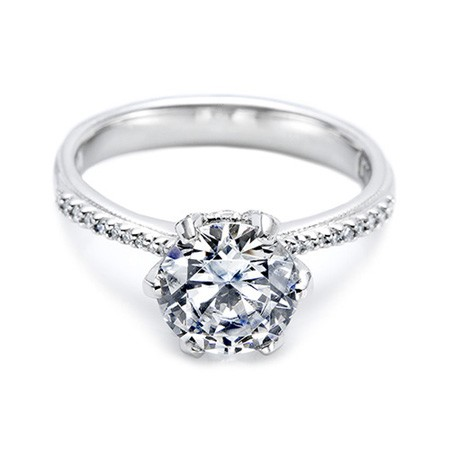 1.25 Carat Solitaire Diamond Ring Round Shape White Gold Natural Certified
