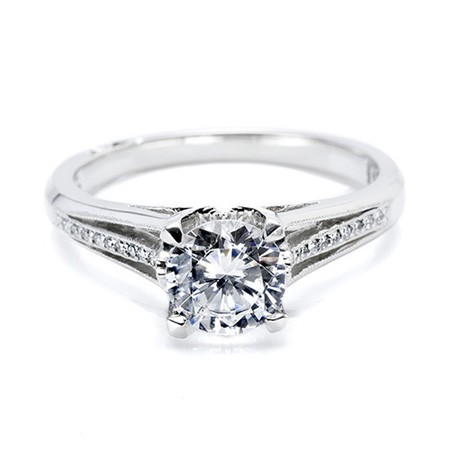 Diamond Solitaire Ring 1.36Ct Round shape Solid White Gold Natural Certified