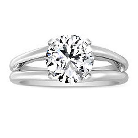 1 Carat Solitaire Diamond Ring 1.00Ct White Gold Solitaire Ring Natural Certified