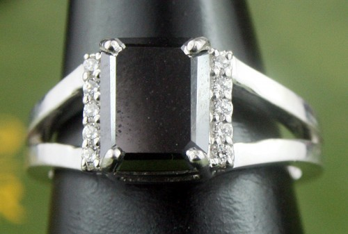 Black diamond Wedding Rings 2.32 Carat Diamond Solitaire For Anniversary Solid Gold