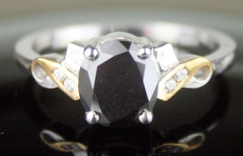 Artistry Black Diamond 1.52 Carat Diamond Solitaire Ring Solid Gold