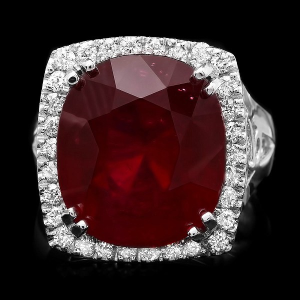 Ruby Diamond Ring 1.00 Ct Gemstone 4.00 Ct 14K Solid Gold Wedding Natural Certified