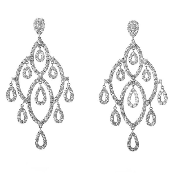 Chandelier Earrings 5.00Ct Diamond Natural Certified Solid Gold