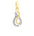 Gold Pendant Set With Earrings 0.72 Ct Solid Gold Natural Certified
