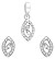 Diamond Pendant Set 0.65 Ct Solid Gold Natural Certified