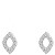 White Gold Diamond Pendant 0.54 Ct Butterfly Natural Certified