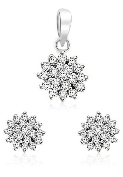 Diamond Pendant Set Designs 0.92 Ct Solid Gold Natural Certified