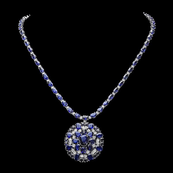 Gemstone Jewelry 2.80 Ct Natural Certified Diamond 14.00Ct Blue Sapphire Solid Gold Wedding