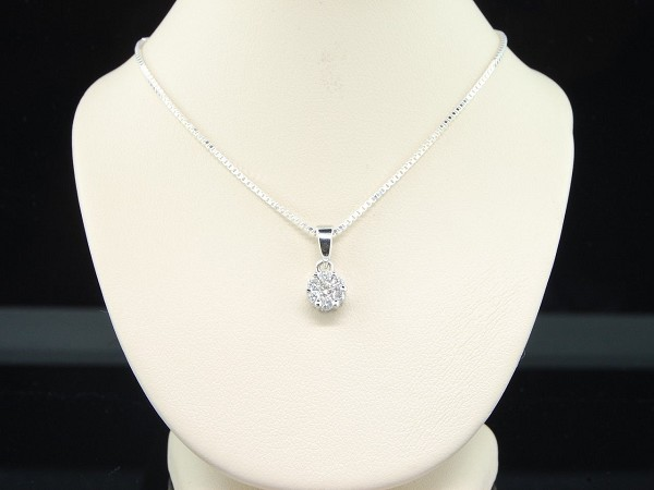 Small Diamond Pendant Set 1.15 Ct Solid Gold Natural Certified