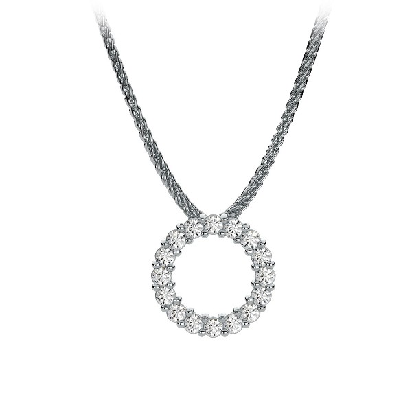Gold Pendant Set 0.15 Ct Diamond Wedding Anniversary Natural Certified