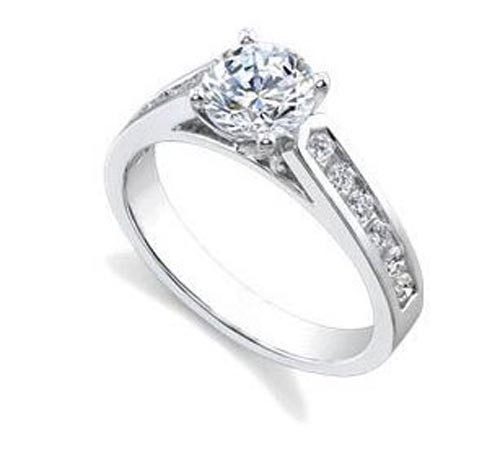White Gold Diamond Engagement Ring 1.50Ct Solitaire Natural Certified