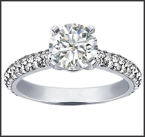 Wedding Engagement Ring 1.60Ct Diamond Solitaire White Gold Natural Certified