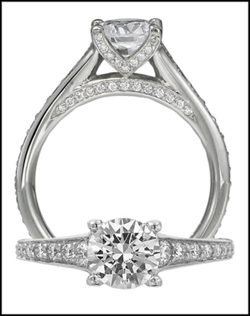 Elegant Engagement Rings 1.00Ct Diamond Solid White Gold Solitaire Natural Certified