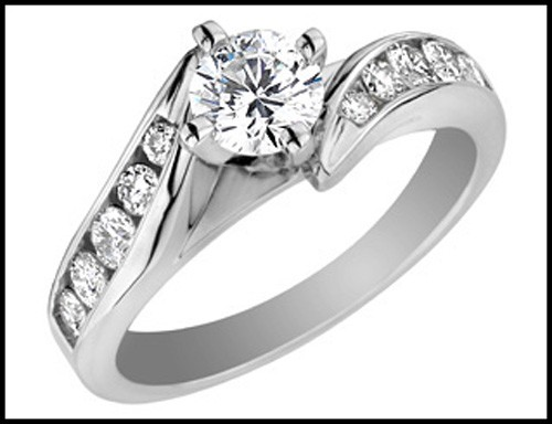 Engagement Wedding Rings 1.10Ct Diamond White Gold Solitaire Natural Certified