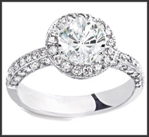 Wedding and Engagement Rings 2.55Ct Diamond Solid White Gold Solitaire Natural Certified