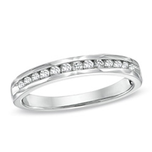 Diamond Anniversay Bands 0.75Ct Solid White Gold Ring Natural Certified