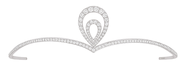 Gold Tiara Crown 4.00Ct Natural Certified Diamond 14K White Gold Headband