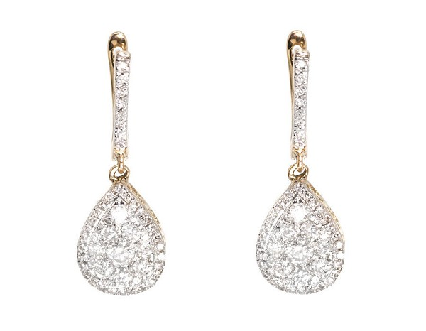 Diamond Hanging Earrings 2 00 Ct Natural Certified Solid White Gold