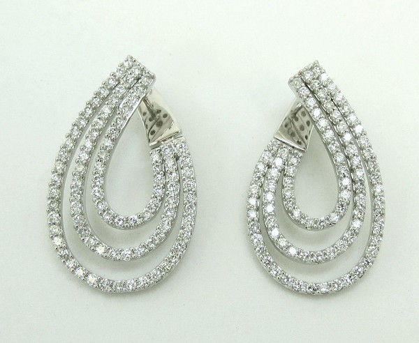 Dangle Earrings 2.00Ct Diamond  Natural Certified Solid Gold