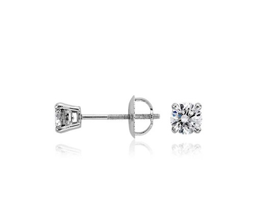 0.20Ct Natural Diamond Solid Gold Men'S Single Stud Certified