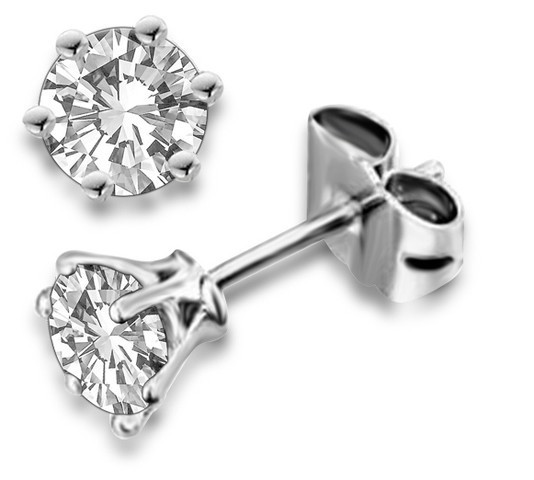0.75Ct Natural Diamond Solid Gold Men'S Single Stud Certified