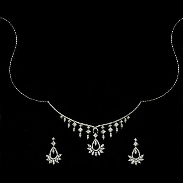 Diamond Set Online 6.50Ct  Gold Wedding Jewelry Set Natural Certified