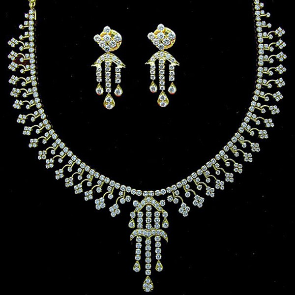 Diamond wedding set solid gold bridal jewelry set for Bridesmaid jewelry sets under 20