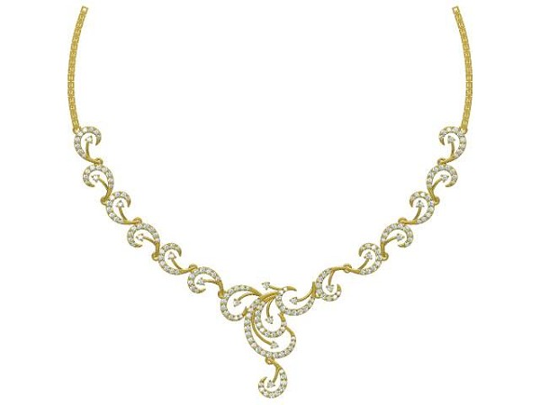 Bridal Necklace 4.00Ct Diamond Solid Gold Wedding Natural Certified