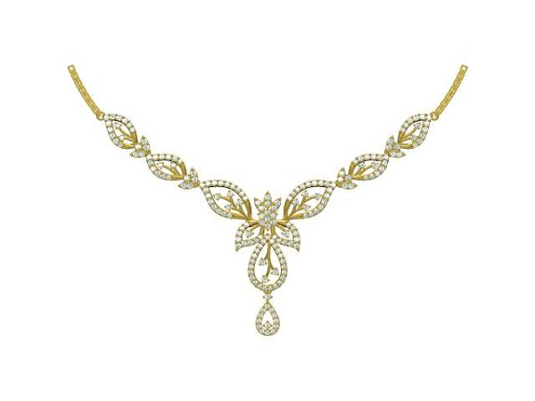 Wedding Necklace 3.55Ct Diamond Solid Gold Wedding Natural Certified