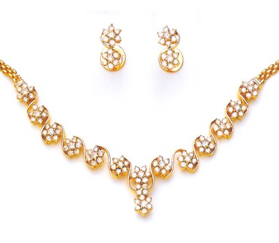 Diamond Set Online 5.25Ct Solid Gold Wedding jewelry Set Natural Certified