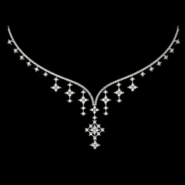 Necklace for Womens 6.55Ct Diamond Solid Gold Wedding Jewelry Online Natural Certified