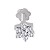 Solitaire Diamond Nose Pin 0.14Ct Round Shape Natural Certified Solid White Gold