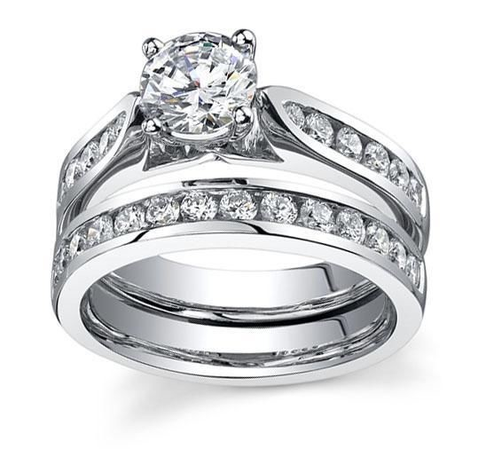 Wedding Rings For Women 2.75 Ct Diamond Gold Solitaire Ring Set Natural Certified