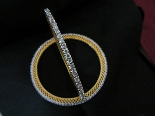 Diamond Eternity Bangle Pair 7.50Ct Solid Gold Natural Certified